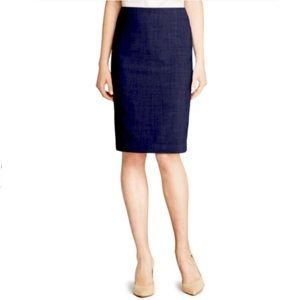 Theory | Navy Blue Pencil Skirt